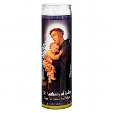St. Jude St. Anthony of Padua  8.25 inch Prayer Candle