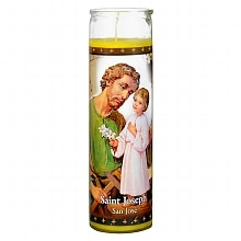 St. Jude Saint Joseph 8 inch Prayer Candle