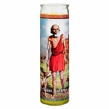 St. Jude Saint Lazarus 8.25 inch Prayer Candle