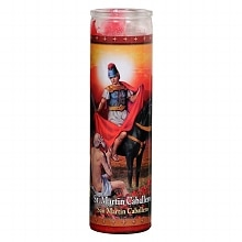 St. Jude St. Martin Caballero Prayer Candle 8.25 inch