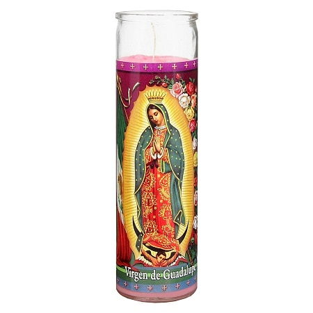 St. Jude Virgin of Guadalupe Prayer Candle 8 inch