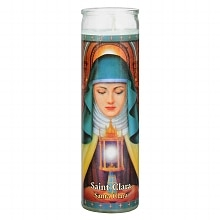 Siant Clara 8.25 inch Prayer Candle, 8.25 Inch