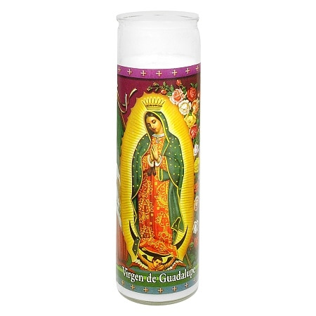 St. Jude Virgen de Guadalupe Prayer Candle 8 inch