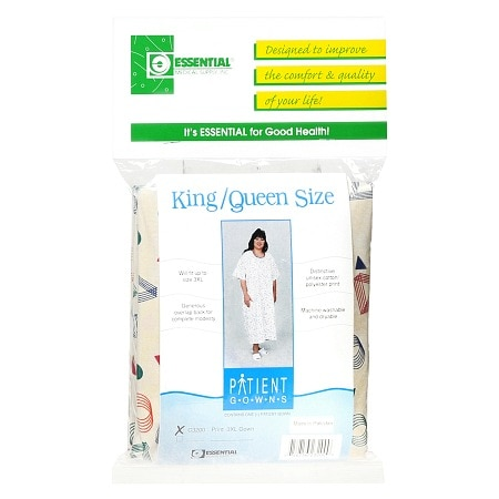 Essential Medical Patient Gown King/Queen Size Print
