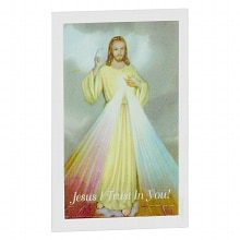 Glass Votive Holder, Divine Mercy