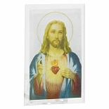 Santos Sacred Heart Glass Votive Holder
