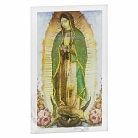 Santos Virgin Mary Glass Votive Holder Lady Guadalupe