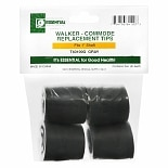 Essential Medical Walker-Commode Replacement Tips 1 inch Gray