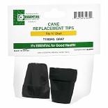 Essential Medical Cane Replacement Tips 3/4 inch Gray
