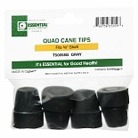 Essential Medical Quad Cane Tips 5/8 inch Gray