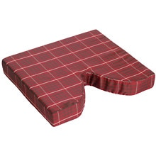 Essential Medical Coccyx Cushion with Masonite Insert Plaid