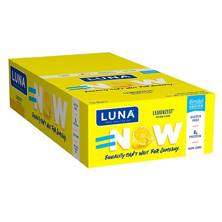 Luna Nutrition Bar for Women Lemon Zest,15 pk