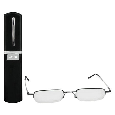 Foster Grant Metal Compact Reading Glasses +2.50
