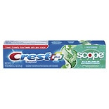Crest Whitening Plus Scope Fluoride Anticavity Toothpaste Minty Fresh Striped