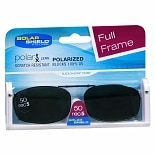 Solar Shield Fits Over Metal Polarized 50 Rectangle 5 Sleek X-Span Full Sunglass Frame Black