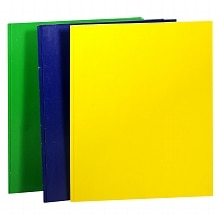 2 Pocket Folder with Prongs, Assorted Colors