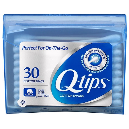 Q-tips Cotton Swabs Blue Purse Pack