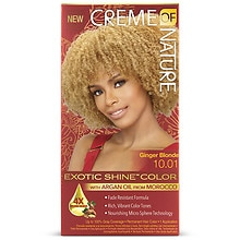 Creme Of Nature Argan Oil Exotic Shine Permanent Hair Color Kit Ginger Blonde