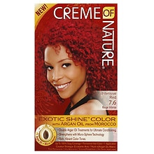 Creme Of Nature Argan Oil Exotic Shine Permanent Hair Color Kit Intensive Red