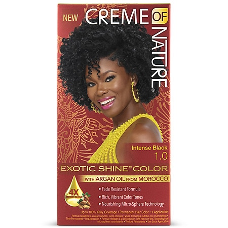 Creme Of Nature Nourishing Permanent Hair Color Kit Intense Black