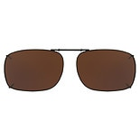 Fits Over Metal Polarized 52 Rec 1 Clip On SunglassesBlack