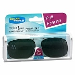 Solar Shield Fits Over Metal Polarized 54 Rec 1 Clip On Sunglasses Black