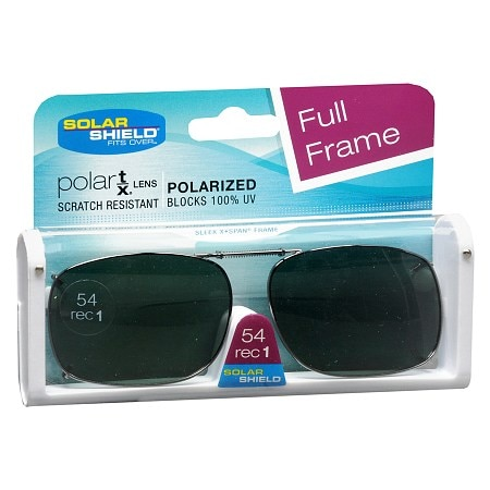 Solar Shield Fits Over Metal Polarized 54 Rec 1 Clip On Sunglasses