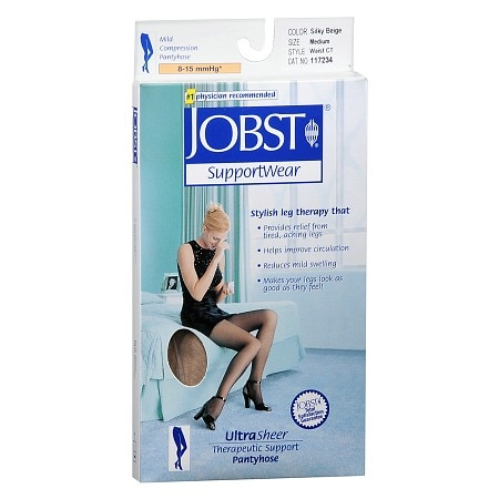 Jobst SupportWear Mild Compression Pantyhose Ultra Sheer Beige