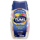 Tums Ultra 1000 Maximum Strength Antacid / Calcium Supplement Assorted Tropical Fruit, Chewable Tablets