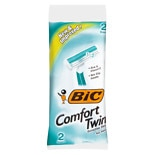 BIC Comfort Twin Disposable Shavers for Men Sensitive Skin