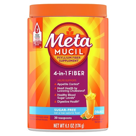 Metamucil MultiHealth Fiber Daily Supplement Powder Orange