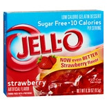 Jell-O Strawberry Sugar-Free Low Calorie Gelatin Dessert Strawberry