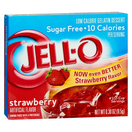 Jell-O Strawberry Sugar-Free Low Calorie Gelatin Dessert