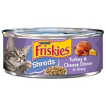 Friskies Savory Shreds Cat Food, Turkey & Cheese Dinner