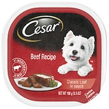 Cesar Canine Cuisine Dog Food Beef in Meaty Juices