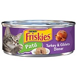 Purina Friskies Classic Pate Cat Food Turkey & Giblets Dinner