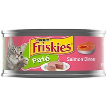 Friskies Salmon Dinner Classic Pate Cat Food, Salmon Dinner