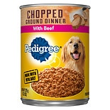 Pedigree Meaty Ground Dinner Canned Dog Food Chopped Beef