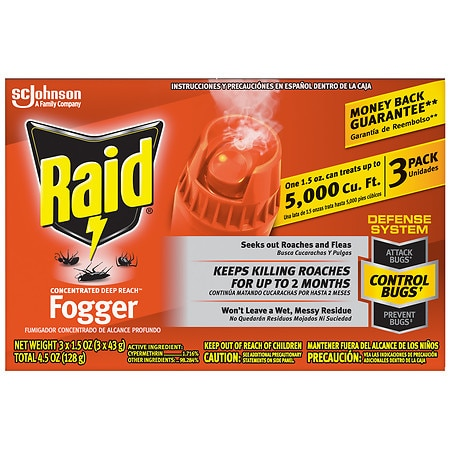 Raid Concentrated Deep Reach Fogger Pest Control Sprays