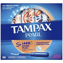 Tampax Pearl Tampons with Plastic Applicators, Fresh Scent