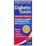 Diabetic Tussin Cough Suppressant & Expectorant DM Maximum Strength Liquid Maximum Strength