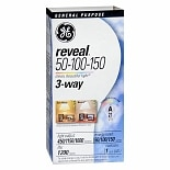 GE Reveal Light Bulb 50-100-150 Watt 3-Way General Purpose A21