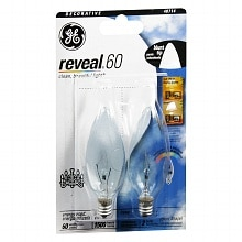 Reveal Light Bulbs Clear 60 Watt Decorative Blunt Tip, B-type