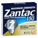 Zantac 75 150 Acid Reducer Tablets
