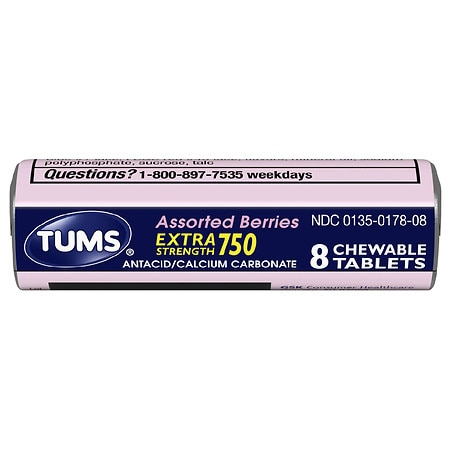 Tums Ex Assorted Berries Single Roll