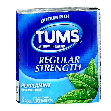 Tums Peppermint 12ct 3 Roll