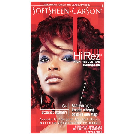 SoftSheen Carson Hi Rez Permanent Hair Color Kit Scarlet Splash