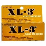 XL-3 Cold Medicine Tablets