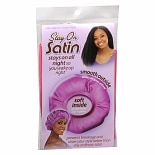 Stay On Satin Satin Edge Hair Bonnet