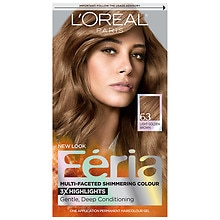 Feria Permanent Haircolour Gel, Sparkling Amber (Light Golden Brown - Warmer)